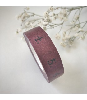 Classiky Masking Tape Numbers Wine Red