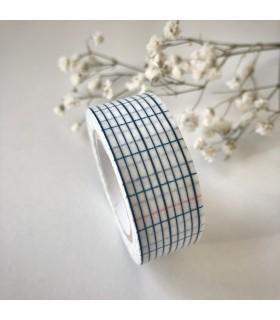 Classiky Masking Tape Grid Indigo 18mm
