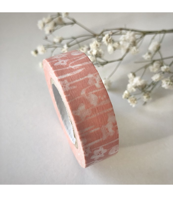 Classiky Tape Small Flower Pink