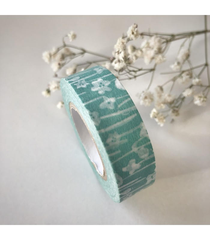 Classiky Tape Small Flower Blue