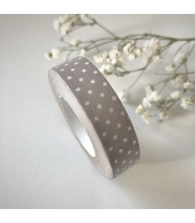 Classiky Tape Pin Dots Pinkish Grey
