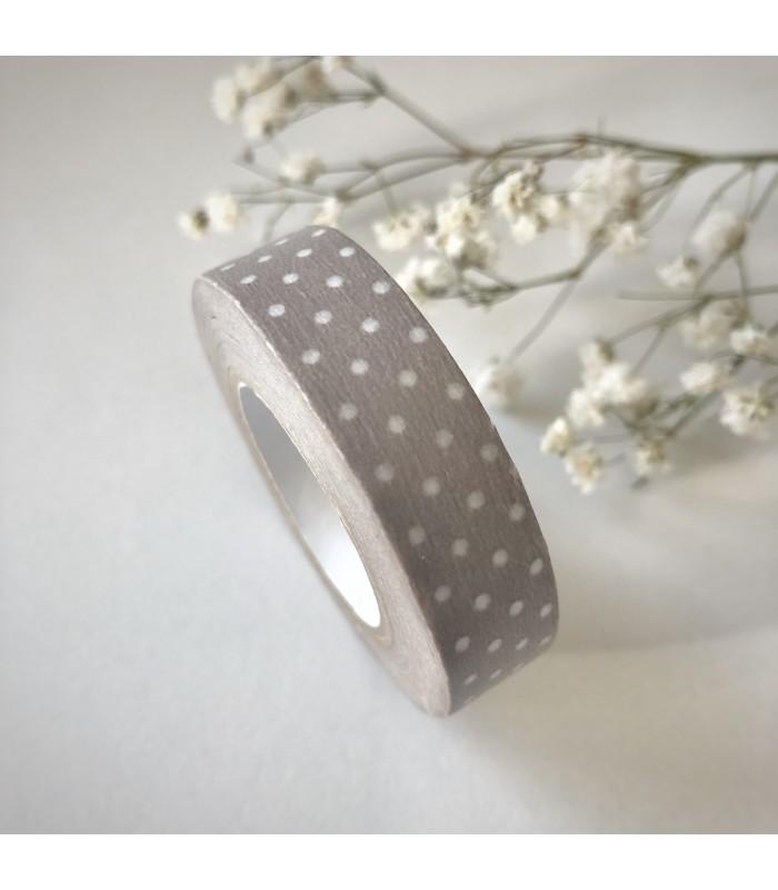 Classiky Masking Tape  Pin Dots Pinkish Grey