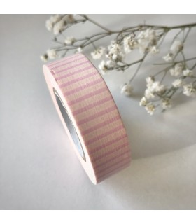 Classiky Tape Stripe Rose Pink