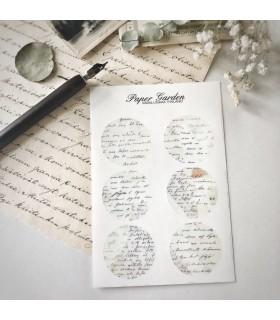 Paper Garden isot pyöreät tarrat, harmaa Aava