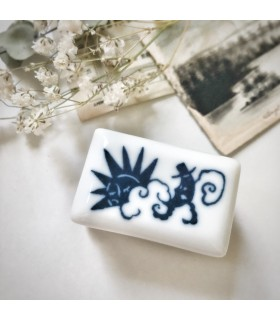 Classiky Porcelain Stamp Moon and the Sun