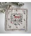 Classiky Taka Masu Linen Gauze Handkerchief, Flower Cat D
