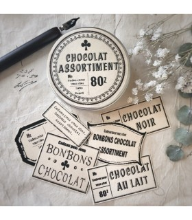 LxP - Chocolat Assortiment, Beige Stickers