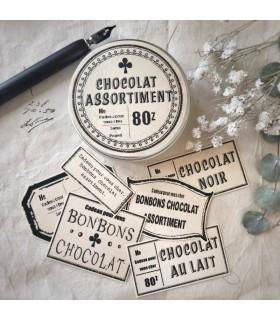 LxP - Chocolate Assortment Stickers, Cream