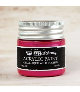 cArt Alchemy Metallique Acrylic Paint - Wild Fuchsia