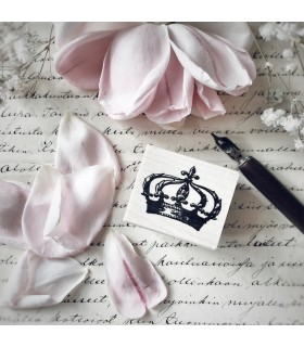 Crown Small Rubber Stamp