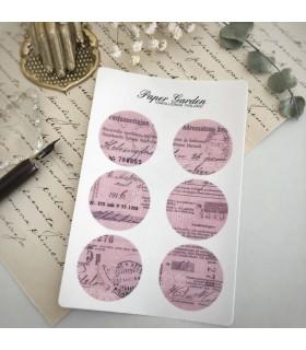 Paper Garden pyöreät tarrat, pinkki