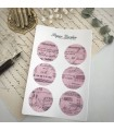 Paper Garden Circle Stickers, pink