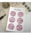 Paper Garden Large Circle Stickers, Pink