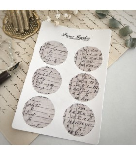 Paper Garden Large Circle Stickers, Beige List
