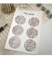 Paper Garden Large Circle Stickers, Beige List