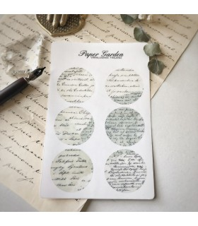 Paper Garden Circle Stickers, blue&nile green