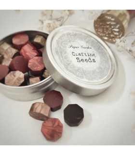 Paper Garden Seeds: Wax Seal Granules, red-brown