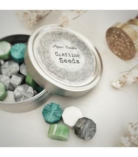 Paper Garden Seeds: Wax Seal Granules, silver-green