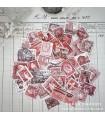 Postimerkkisetti - punainen
