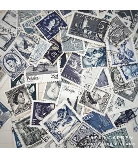 Postimerkkisetti - sininen
