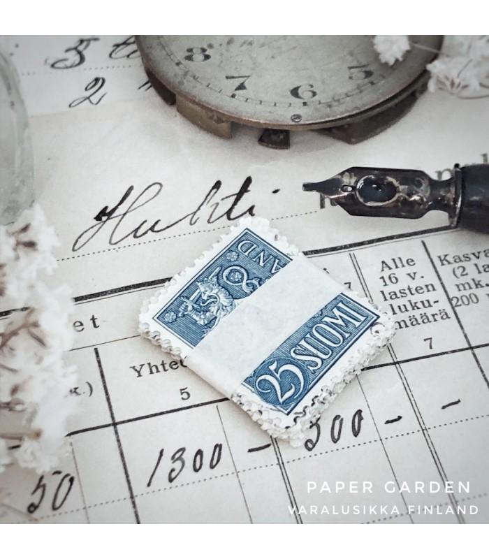 Postimerkit - Suomi sininen 25