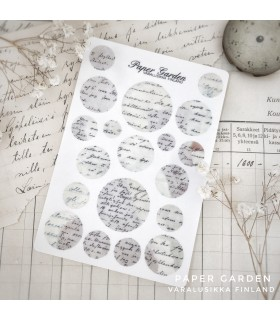 Paper Garden Multi Circle Stickers, Grey Aava