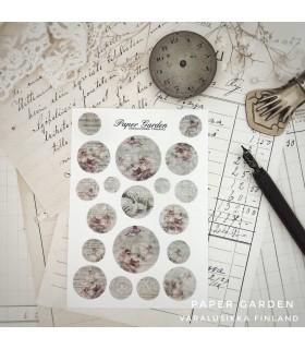 Paper Garden pienet ympyrätarrat, clematis