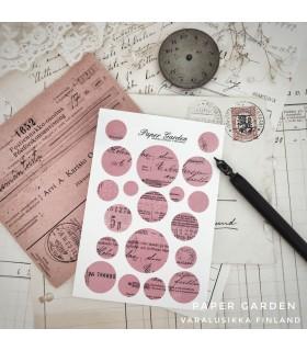 Paper Garden pienet ympyrätarrat, pinkki