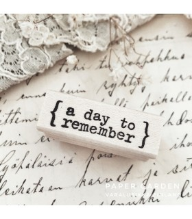 CLP A Day to Remember Rubber Stamp