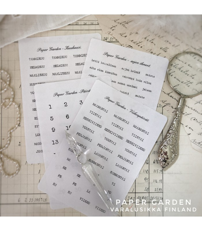 PG FINNISH Journaling Sticker Set