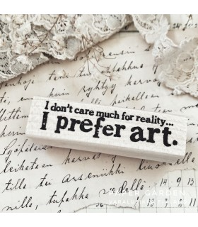 CLP ...I Prefer Art Rubber Stamp