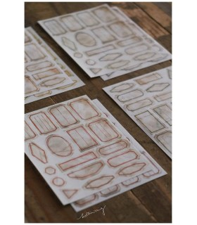 LCN Mini Vintage Label Sticker Sheets