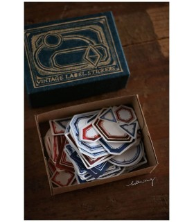 LCN Vintage Label Sticker Box -BLUE