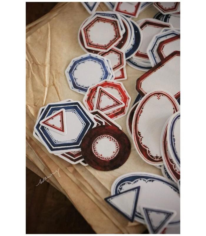 LCN - Blue Vintage Label Sticker Box