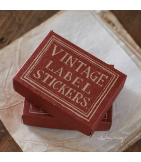 LCN Vintage Label Sticker Box -RED