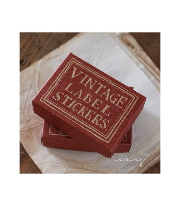 LCN - Red Vintage Label Sticker Box