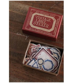 LCN - Red Vintage Label Sticker Box