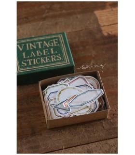 LCN Vintage Label Sticker Box (orange/green)
