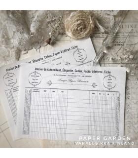 LxP - White Vintage Notepad