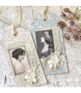 Vintage Tag Kit, Roses and Bluebirds