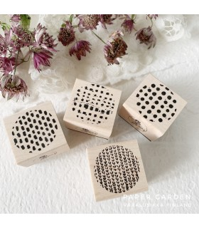 LCN Pattern - Round Rubber Stamp Set.