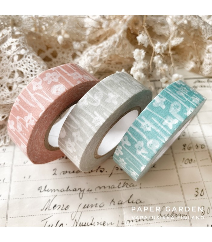 Classiky Tape Small Flower 3 Colours Set