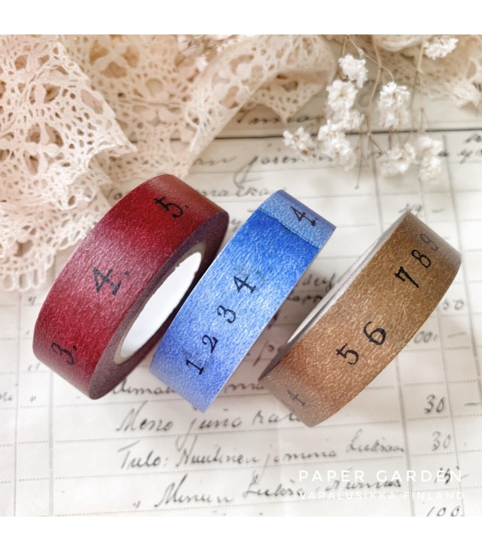 Classiky Tape Number 3 Colours Set