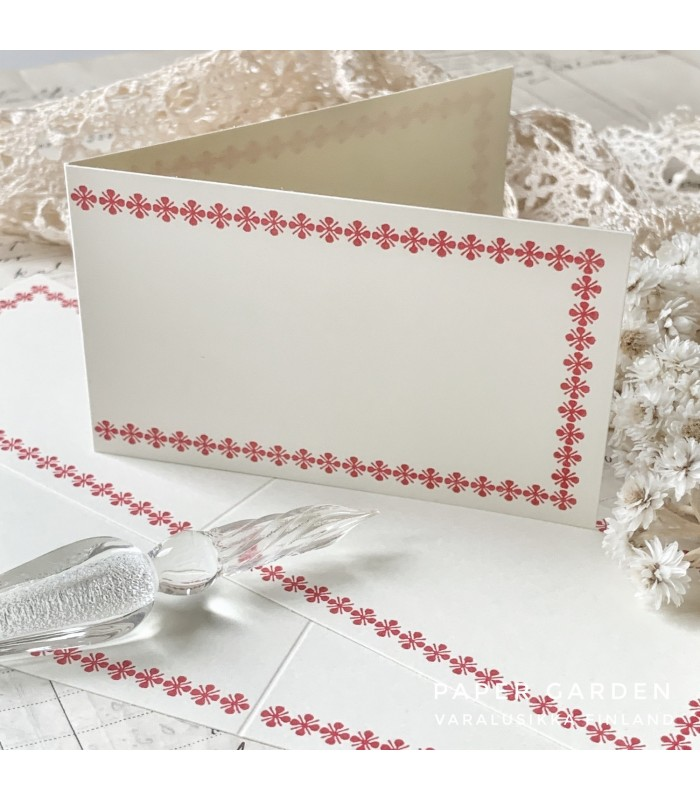 Classiky Folded Memo Card Red