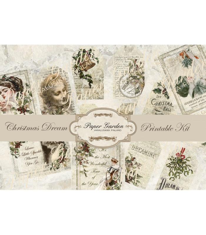 Digital Christmas Dream PDF Journaling Kit