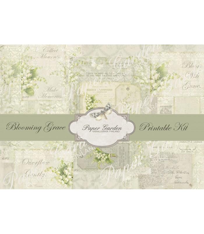 Tulostettava Blooming Grace PDF Journaling Kit