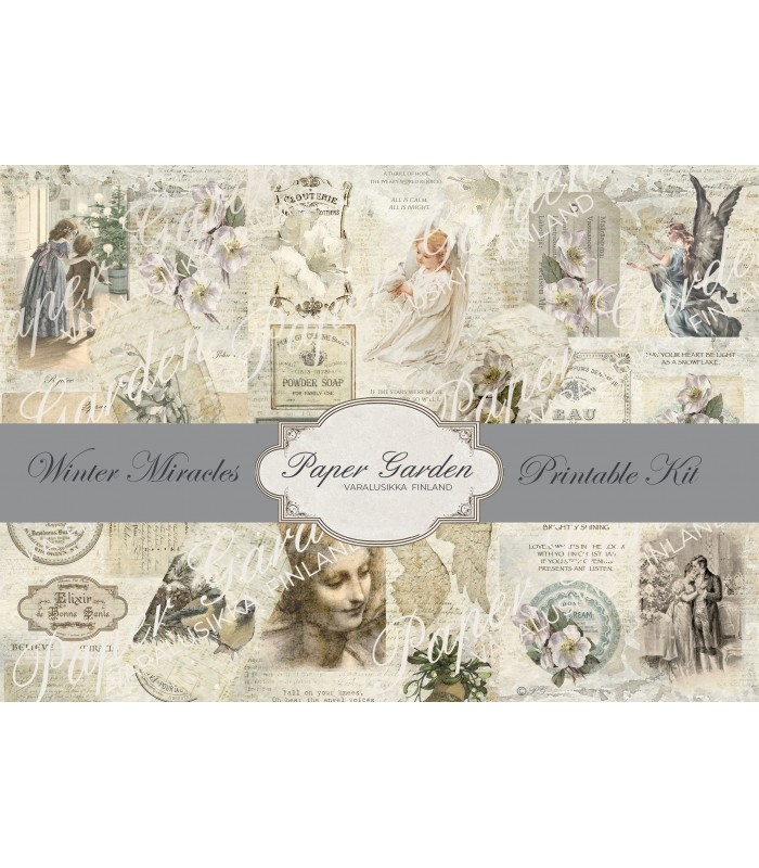 Tulostettava Winter Miracles PDF Journaling Kit