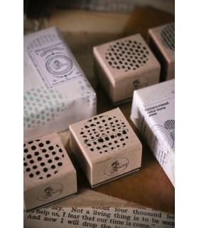 LCN Pattern - Round Rubber Stamp Set.