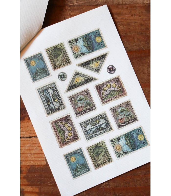 LCN - Postage Stamp Print-on Stickers