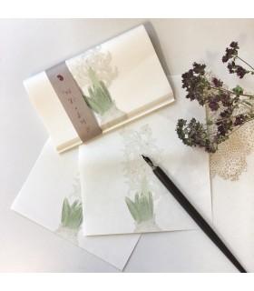 Classiky Kaishi Washi Paper White Hyacinth